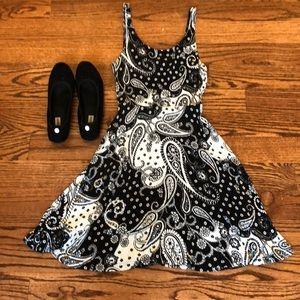 Black and White Paisley Express Dress
